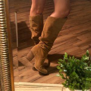 Aldo Shoes - Aldo Tan Suede Slouch Boots